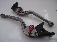 Buell XB12Ss 2009, CNC levers set long Titanium alloy & red adjusters F14/B55